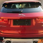Jaguar F-Pace rear spied in China