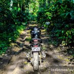 Mahindra Mojo forest rear review