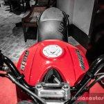 Mahindra Mojo red and white badges review