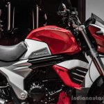 Mahindra Mojo red and white fuel tank review