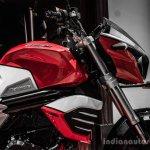 Mahindra Mojo red and white wallpaper review