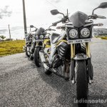 Mahindra Mojo triple head lamp wallpaper