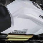 Mahindra Mojo white fuel tank review