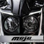 Mahindra Mojo white head lamps review