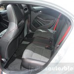 Mercedes A Class facelift rear seats at DIMS 2015
