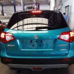 Suzuki Vitara compact SUV rear blue snapped in India