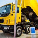 Tata PRIMA 3138.K Coal Tipper front quarter at EXCON 2015