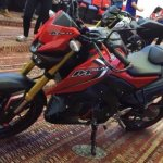 Yamaha M-Slaz red black front quarter leaked