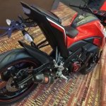 Yamaha M-Slaz red black rear quarter leaked