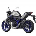 Yamaha MT-03 rear quarter unveiled at EICMA 2015