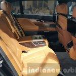 2016 BMW 7 Series rear seat at 2015 Thai Motor Expo