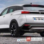 2016 Peugeot 3008 rear three quarters rendering