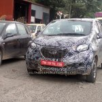 Datsun redi-Go front production version caught testing