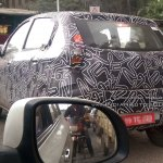 Datsun redi-Go rear view production version caught testing
