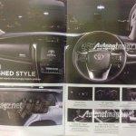 Indonesia-spec 2016 Toyota Fortuner interior brochure leaks