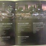 Indonesia-spec 2016 Toyota Fortuner variant breakup brochure leaks