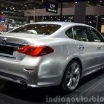 Infiniti Q70 rear three quarters right at 2015 Shanghai Auto Show
