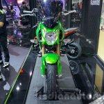 Kawasaki Z125 Pro green front at 2015 Thailand Motor Show