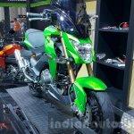 Kawasaki Z125 Pro green front quarter at 2015 Thailand Motor Show