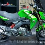 Kawasaki Z125 Pro green side at 2015 Thailand Motor Show
