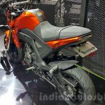 Kawasaki Z125 Pro orange rear quarter at 2015 Thailand Motor Show
