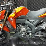 Kawasaki Z125 Pro orange side at 2015 Thailand Motor Show