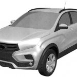 Lada XRay Cross front quarter patent image leaked