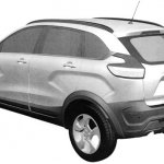 Lada XRay Cross rear quarter patent image leaked