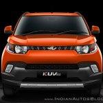 Mahindra KUV100 front view official