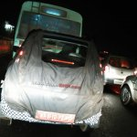 Mahindra Reva e2o 4-door version tail lamp spied