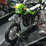 New Kawasaki D-Tracker 150 front quarter at 2015 Thailand Motor Expo
