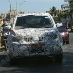 Production-spec Tata Hexa front spotted in Pune
