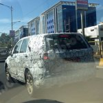 Production-spec Tata Hexa rear three quarter spotted in Pune