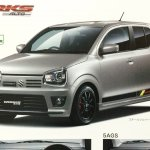 Suzuki Alto Works front three quarter brochure image