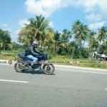 TVS Apache 200 test mule spied on highway by Madhan