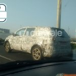 Tata Hexa rear three quarter snapped testing