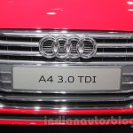 2016 Audi A4 grille at Auto Expo 2016