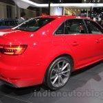 2016 Audi A4 rear three quarters right at Auto Expo 2016