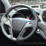 2016 Hyundai Santa Fe (facelift) steering wheel at 2016 Geneva Motor Show