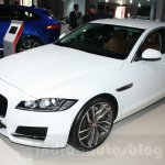 2016 Jaguar XF front three quarter at the Auto Expo 2016
