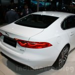 2016 Jaguar XF rear quarter at the Auto Expo 2016
