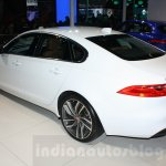 2016 Jaguar XF rear three quarter at the Auto Expo 2016