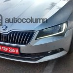 2016 Skoda Superb L&K front snapped in India
