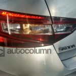 2016 Skoda Superb L&K taillamp snapped in India