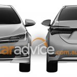 2016 Toyota Corolla facelift front and rear leaked via patent images