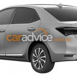 2016 Toyota Corolla facelift rear quarter leaked via patent images