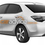 2016 Toyota Corolla facelift rear three quarter leaked via patent images