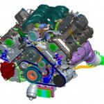 2017 Genesis G90 5.0-liter V8 engine