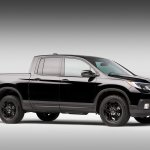 2017 Honda Ridgeline black front three quarters right side