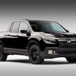 2017 Honda Ridgeline black front three quarters